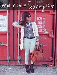 Vanessa P. - Zara Jeans, H&M Blouse, Acne Studios Pistol Boots, Balenciaga Bag, Gucci Belt, Zara Necklace - Waitin' On A Sunny Day