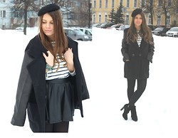 Polina Lobanova - Nowistyle Coat, Catarzi Pillbox, Zara Top - My weakness
