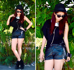 Gela De la Vega - Anxiety Clothing Leather Shorts, More In My Blog - 4 of 30: Embracing my Curves