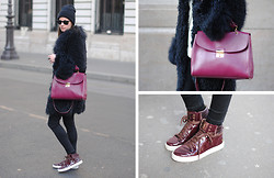 Zina CH - Marc By Jacobs Bag, Yves Saint Laurent Shoes - Paris Fashion Week