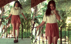 Tneale Williams - Old Khaki White Shirt, Forever 21 Hi Lo Skirt, Sandal Wedge, Lovisa Candy Neckpiece - Because we are your friends, you'll never be alone again.
