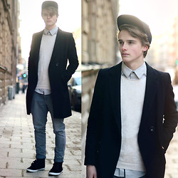 Theo Ortengren - Topman Sweater, Brothers Coat, H&M Shirt, Cheap Monday Chinos, H&M Cap - A Case Of You