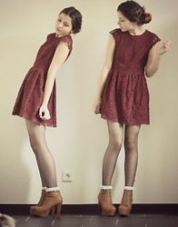 Lea K - Asos Frilly Socks, H&M Dress, Noname Lita - Frilly socks