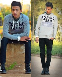 Ayoub Sami - Zara , , , In Jeans, All Star , All Star , All Star , In Sneakers, Celio Sweaters , Celio Sweaters , Celio Sweaters , In Sweaters - A glance, a simple I love you