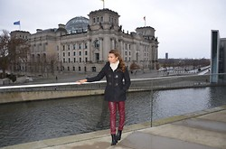 DORALYS BRITTO - Burberry Coat, Sprit Scarve, H&M Leather Pants, Acne Studios Boots - Remenber me?