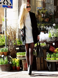 Fanny Staaf - Armani Exchange Dress, H&M Coat, Choies Bag, Sarenza Shoes, Ray Ban Sunglasses - FLOWER SHOP