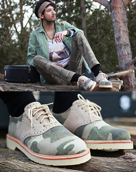 Bobby Raffin - Dr. Martens Camo Shoes - Lyrics of an indie dream.