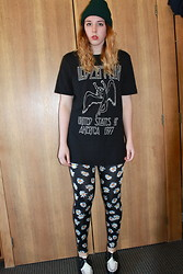 Lauren S. - Thrift Hat, Urban Outfitters Tee, Pacsun Leggings, Tuk Creepers - Whole Lotta Love