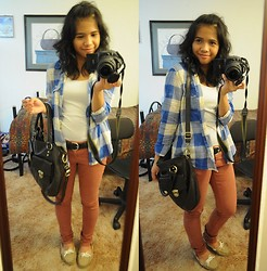 Rej Rabara - Discount Store Leather Bag, Hollister Top - Spring weather feels like Summer!