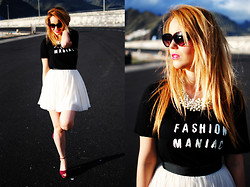 Nery Hdez - Mango T Shirt, Naf Naf Tutu, Suiteblanco Necklace, H&M Shoes, Sunglasses Shop Sunnies - FASHION MANIAC
