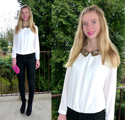 Ania Zarzycka - Blouse - Gold, sequin collar / Giveaway!