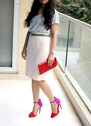 Style Destino - H&M Lace, Zara Heels, Cartier Silver - Colourful life