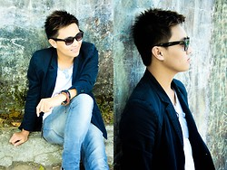 Kojin Domingo - Penshoppe Coat, Penshoppe Pants, Sm Accessories Bracelets, Ray Ban Wayfarer - A Brighter Day