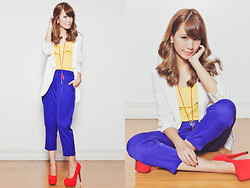 Tricia Gosingtian - Bayo Top, Bayo Pants, Bayo Necklace, Romwe Blazer, Asian Vogue Heels - 031613