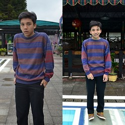 Gabriel Sebastian Kaban - Stripes Sweater, Chino Pants, Mountain Boots - Stripes!
