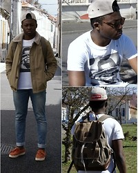 Ludovic Pieterson - Supreme 5 Pannel, Hype Means Nothing T Shirt, Bizzbee Outerwear, Zara Jean, Alife Sneakers, River Island Bag - Hype means nothing
