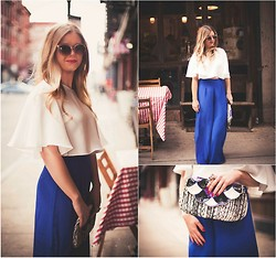 Cecily Richardson - Zara Cape Top, Forever 21 Clutch, Alice & Trixie Palazzo Pant - Whole enchilada