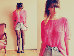 Blanche Clement - Zara Sweater, Vintage Shorts, Asos Tights, New Look Studded Ballerinas Flats - Cross Your Hear†