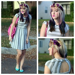 Kimberly Grace . - Dear Creatures Arrow Dress, Bc Footwear Limousine Flat, Diy Flower Headband - Rule number one, is that you gotta have fun.
