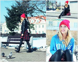 Ula Małecka - Cap(I Decorated With Studs), H&M Jacket, No Name Shirt, H&M Pants, P&B Boots - Waiting for spring