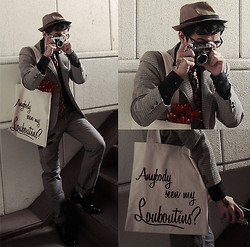 KIKO CAGAYAT - Forever 21 Fedora, Lanvin Tie, Pepe Jeans Eye Glasses, Burberry Black Label Shirt, Anbody Seen My Louboutins? Toe Bag, Too Dope Tattoo - Anybody seen my Louboutins?