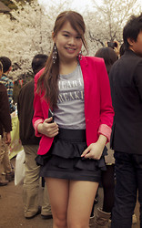 Aneka Tsujimoto - H&M Blazer, Old Navy Heart Breaker T Shirt, Forever 21 Earrings - Sakura