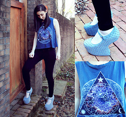Jordyn Ariel - Jeffrey Campbell Prickly Mary Jane Platform, Truly Madly Deeply Cosmic Zodiac Muscle Tee - ♡You Are My Star Crossed Lover♡