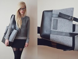 Aneta M - Bag, Sweater - GRAY