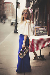 Cecily Richardson - Urban Outfitters Sunnies, Zara Cape Top, Alice And Trixie Pants, Forever 21 Bag, Asos Ring - Whole enchilada