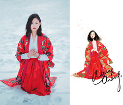 Nancy Zhang - Chanel Skirt, Issey Miyake Shirt - Snow Crane-2