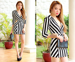 Stephanie D - In Love With Fashion Black & White Stripe Dress - We've got miles to go before we sleep