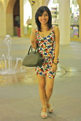 Loraine Villanueva - Forever 21 Floral Peplum, Crocs Beige Wedge, Lacoste Hand Bag - Holy Monday