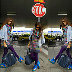 LIA IGAM - Kira Plastinina Jeans Jacket, Casio Gold, Longchamp Bag, Burberry Brown Glasses - Let's travel!