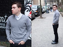 Ryan Charchian - Marc By Jacobs Button Down, H&M Sweater, American Eagle Jeans, Hunter Boots - Spring Break Forever