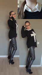 Josca . - Forever 21 Sweater  , H&M Pants  , Michael Kors Glasses   - Geeky glasses