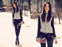 Jane Dean - Gina Tricot Jeans, Accessorize Clutch, Shirt, Studded Heels - I NEED SUMMER. NOW!!!