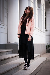 Jane S. - H&M Jacket, Monki Shirt, Romwe Skirt, Calvin Klein Tights - I built you a home in my heart