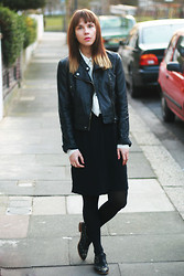 Dagmara R - Topshop Jacket, Monki Dress, Zara Brogues - Slow walking