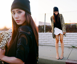 Jenny Ong - Asos Faux Fur Coat, 3.1 Phillip Lim Cody D'orsay Heels, Zara Top And Skirt, Nordstrom Beanie - In The Sleeves