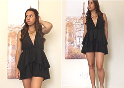 Bella Silva - Tobi Black Playsuit - The Autumn Playsuit