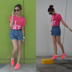 Valerie May Garingalao - Forever 21 Round Shades, Nike Neon Pink Sneakers - I'm still young, & I have a lot to learn <3