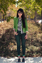 Danielle Payton - Ray Ban Meteor, Sugarlips Blouse, Blazer, Free People Necklace, Urban Outfitters Jeans - Virescence