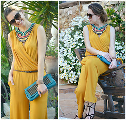 Kseniya B - Kristine's Collection Jumpsuit, Tylie Malibu Clutch, Prada Sandals, Gucci Sunglasses - Jump into the Jumpsuit!