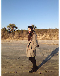 Kennedy Holmes - Vintage Grey Tweed Coat, American Apparel Black Bamboo Tights, American Apparel Hannah Shoes - Last day