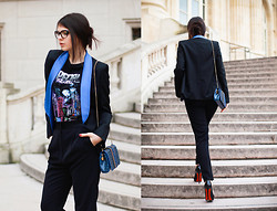 Doina Ciobanu - Stella Mccartney Blazer, Stella Mccartney Croco Bag, Christian Louboutin Pigalle 140mm - BALENCIAGA SPACE