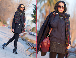 WOWS . - Chic Wish Navy Blue Knitted Jumper:, Prada Sunglasses 08ps - ✯✯✯ NAVY BLUE ✯✯✯