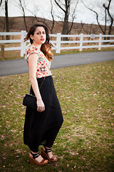 Alexis Nigro - Forever 21 Black Beaded Clutch Bag, Target Wedges, Forever 21 Black Chiffon Maxi Skirt - Easter Sunday