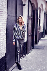 Sofie V. - Zara, Iro Pants - Stripes & Sequins