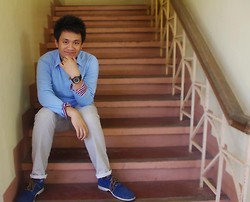 Josh D. - Sweater, Penshoppe Button Down, Bench Khaki Jeans, Sperry Suede Oxfords - Someday We'll Know, Why The Skies Are Blue.