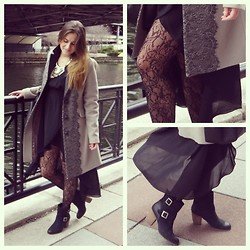 ChicFab Hunt - Badgley Mischka Coat, Steve Madden Booties - Breeze of Spring